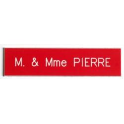 Plaque boite aux lettres Rouge - Arial