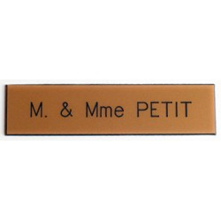 Plaque pour interphone et sonnette Or - Arial