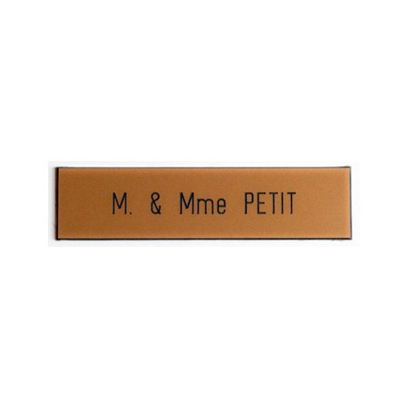 Plaque pour interphone et sonnette Or - Compacta