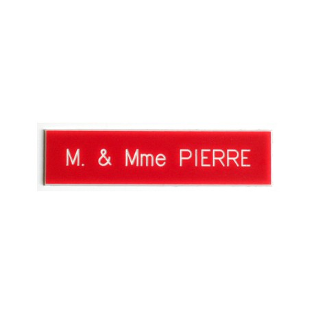 Plaque pour interphone et sonnette Rouge - Arial