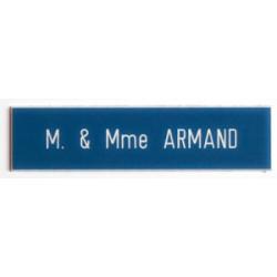 Plaque pour interphone et sonnette Bleue- Compacta